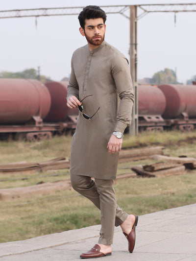 Green Cotton Kurta Pajama - AL-KT-2555