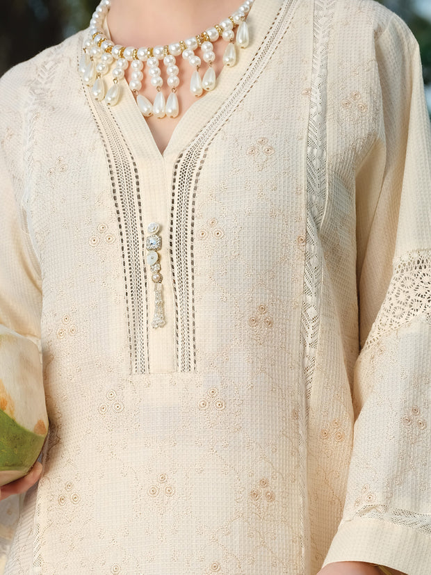 Off White Chicken Kari Tunic - AL-LK-727