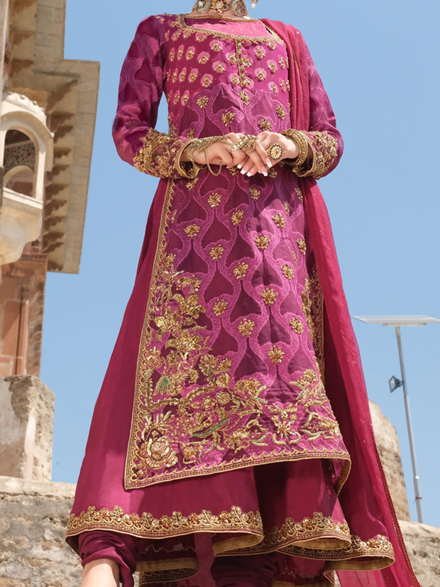 Magenta 3 Piece Formal Suit - LS-268