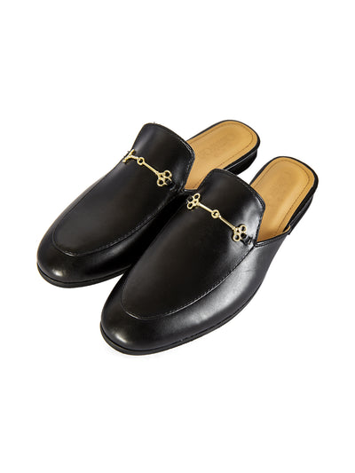Black Leather Slip-On - AL-MSHO-015-20