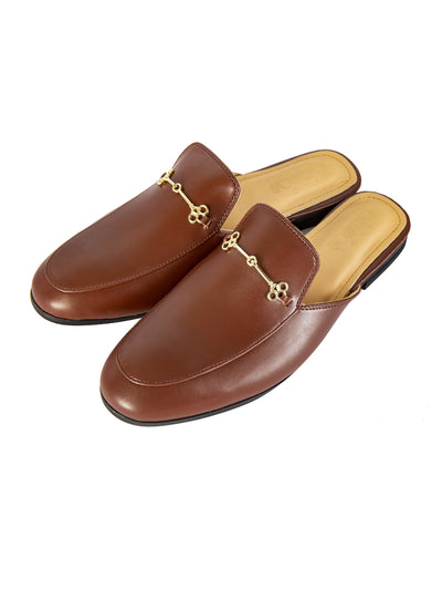 Coffee Leather Slip-On - AL-MSHO-016-20