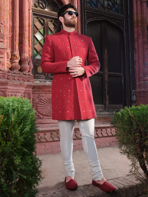 Red Men Sherwani - AL-SW-110