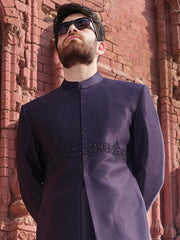 Blue Men Sherwani - AL-SW-113