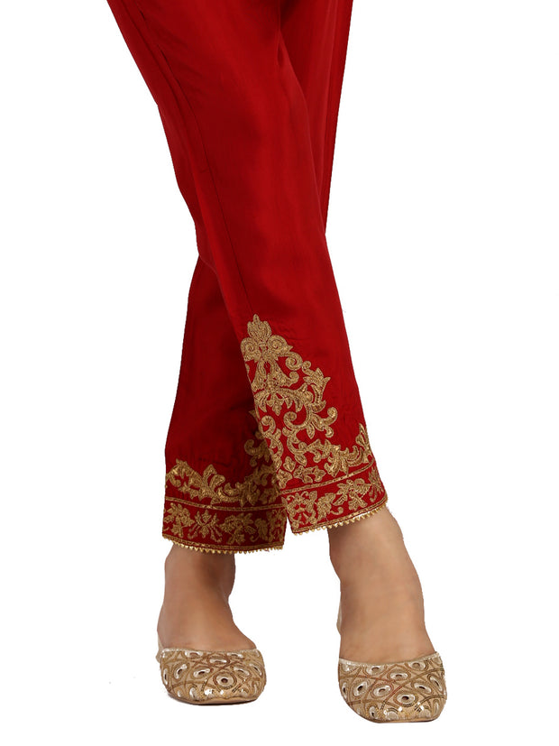Red Viscose Trouser - AL-T-407