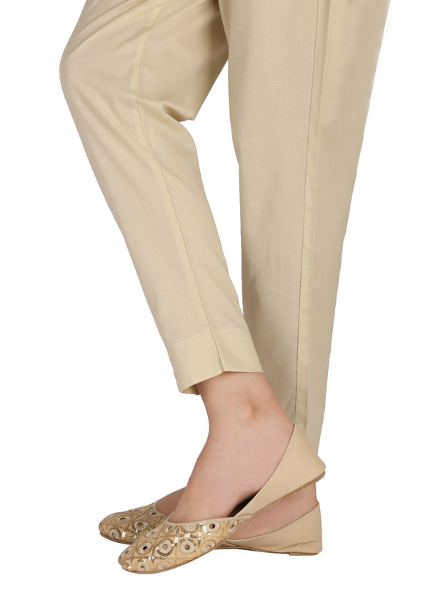 Beige Cotton Trouser - AL-T-413C