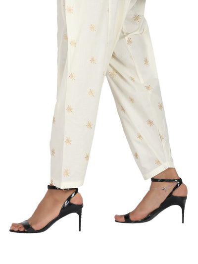 Off White Lawn Trouser - AL-T-449
