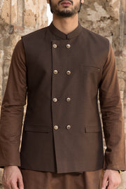 Brown Suiting Waistcoat - WC-266