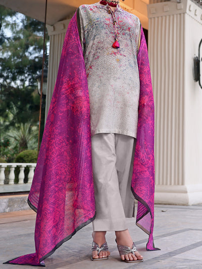 Grey Lawn 3 Piece Stitched - ALP-3PS-1042/S