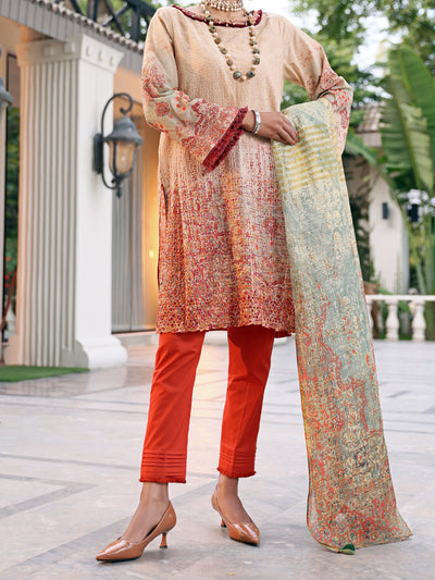 Beige Lawn 3 Piece Stitched - ALP-3PS-1043/S