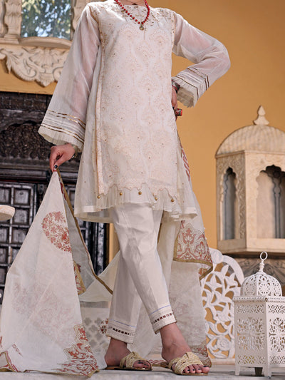 Cream Khaddi 3 Piece Stitched - ALP-3PS-1076/S