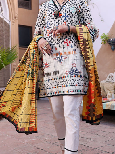 Ivory Lawn 3 Piece Stitched - ALP-3PS-1083/S