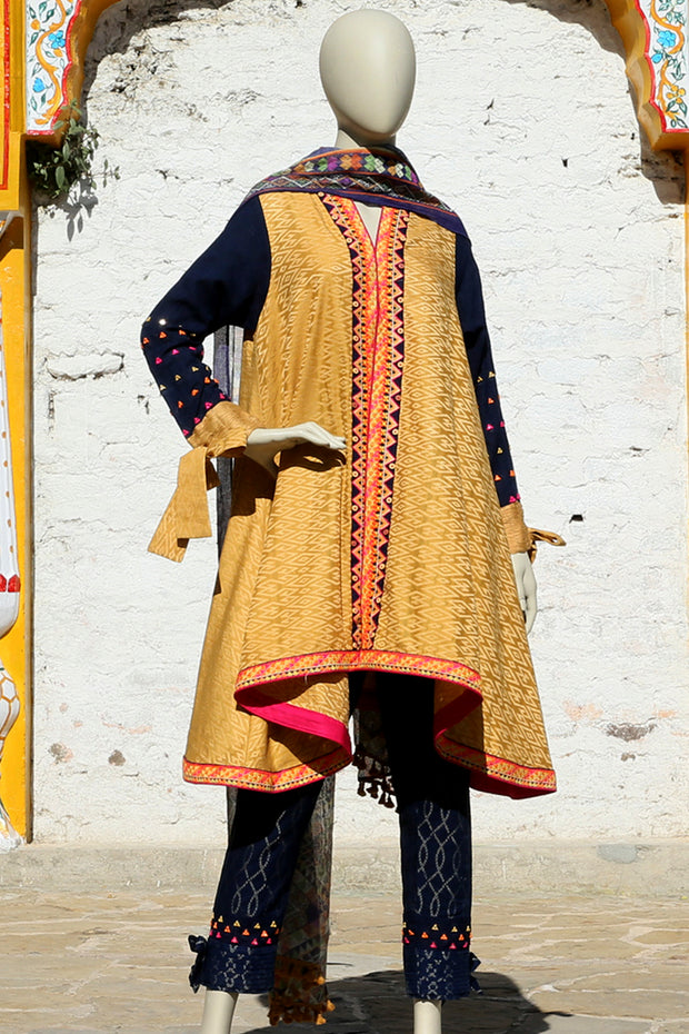 Yellow 3 Piece Stitched - ALP-349