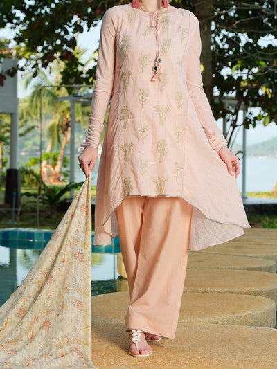 Pink Lawn 3 Piece Stitched - ALP-3PS-814