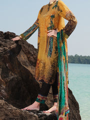 Mustard Lawn 3Pc Stitched - ALP-3PS-819