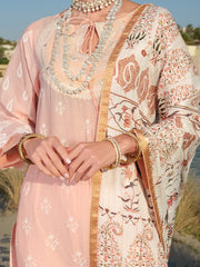 Pink Lawn 3 Piece Stitched - ALP-3PS-891