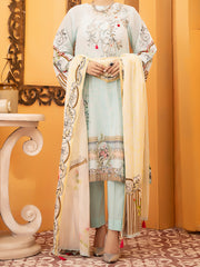 Aqua Lawn 3 Piece Unstitched - ALP-930