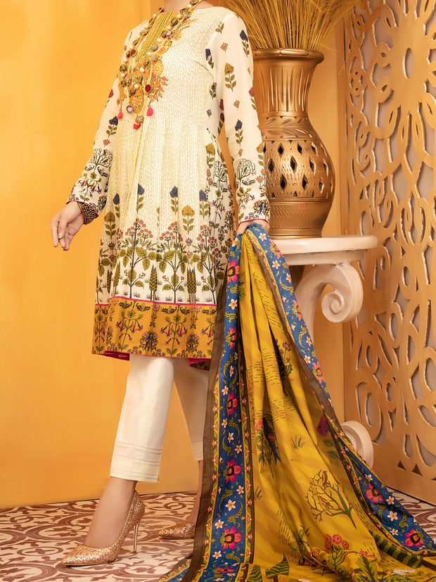 Yellow Lawn 3 Piece Unstitched - ALP-931