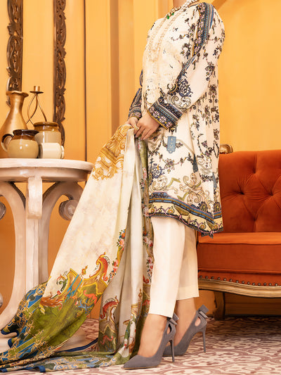 Almirah ALP-932 Ivory Lawn Collection