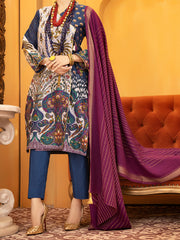 Blue Lawn 3 Piece Unstitched - ALP-934