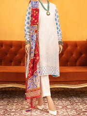 White Lawn 3 Piece Unstitched - ALP-935