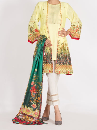 Almirah ALP-2PS 995 Lime Yellow Lawn Collection