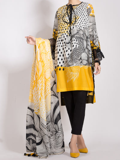 Almirah ALP-2PS 999 Yellow Lawn Collection