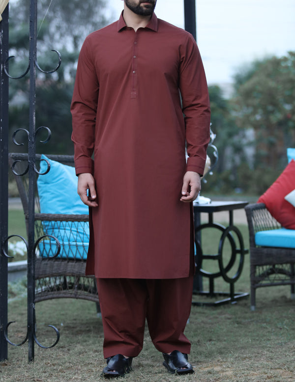 Copper Kameez Shalwar - ALWA-KS-052