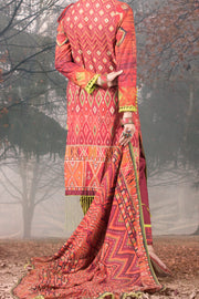 Orange Cambric 3 Piece Unstitched - AWP-3PS-171