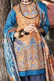Orange Cambric 3 Piece Unstitched - AWP-251