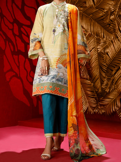 Almirah AWP-3PS 281 Lime Lawn Collection
