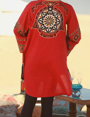 Red Woolen Tunic - LK-148