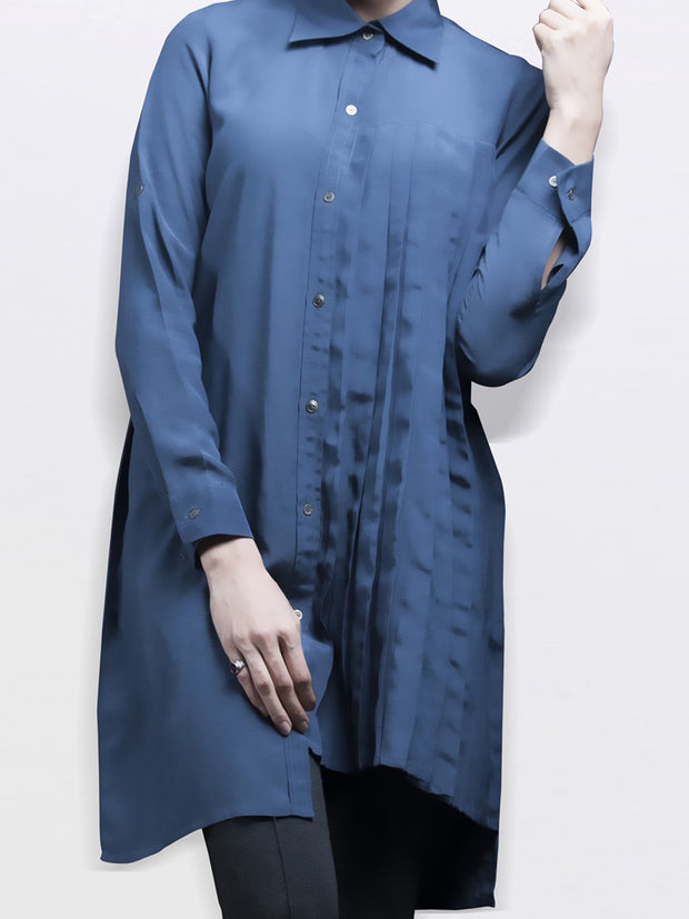 Blue Silk Tunic - LK-208