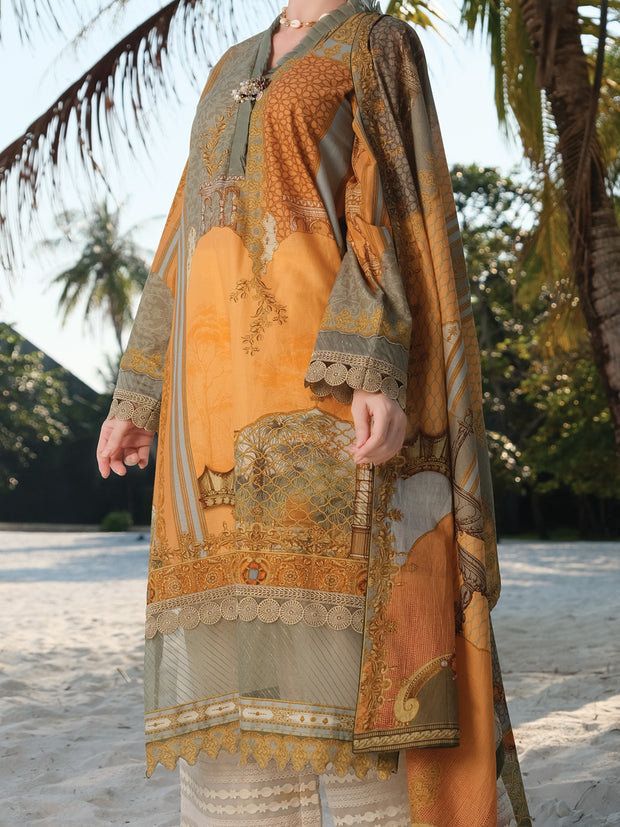 Ochre Lawn 2 Piece Unstitched - ALP-2PS-868