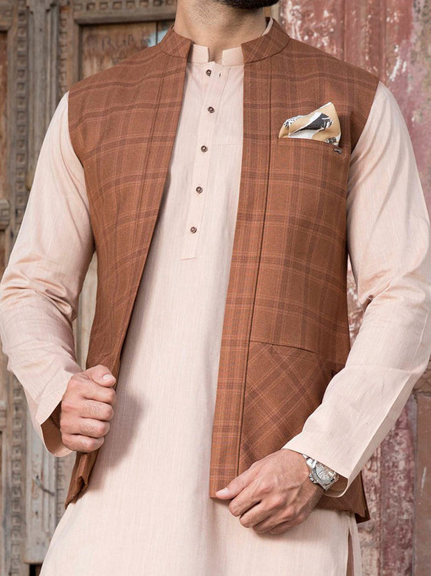 Mustard Suiting Waistcoat - WC-259