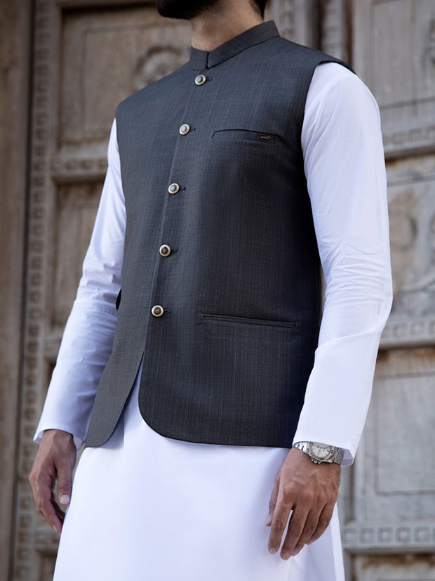 Grey Suiting Waistcoat - WC-277