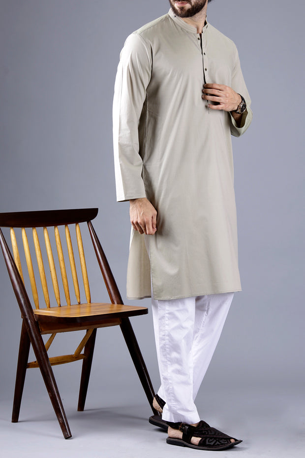 Light Green Blended Kurta - AL-K-655