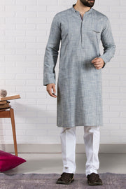 Blue Cotton Kurta - AL-K-691