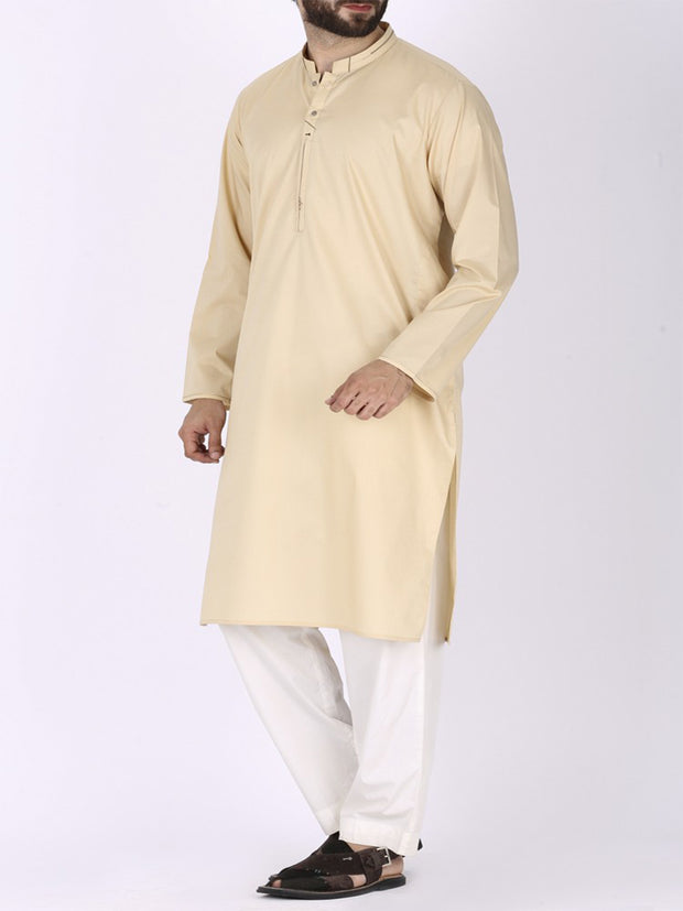 Golden Blended Kurta - AL-K-710