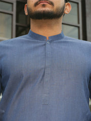 Blue Cotton Kurta - AL-K-754