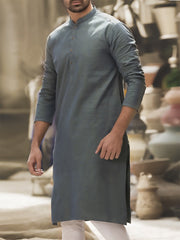 Green Cotton Kurta - AL-K-765