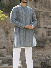 Green Cotton Kurta - AL-K-792C