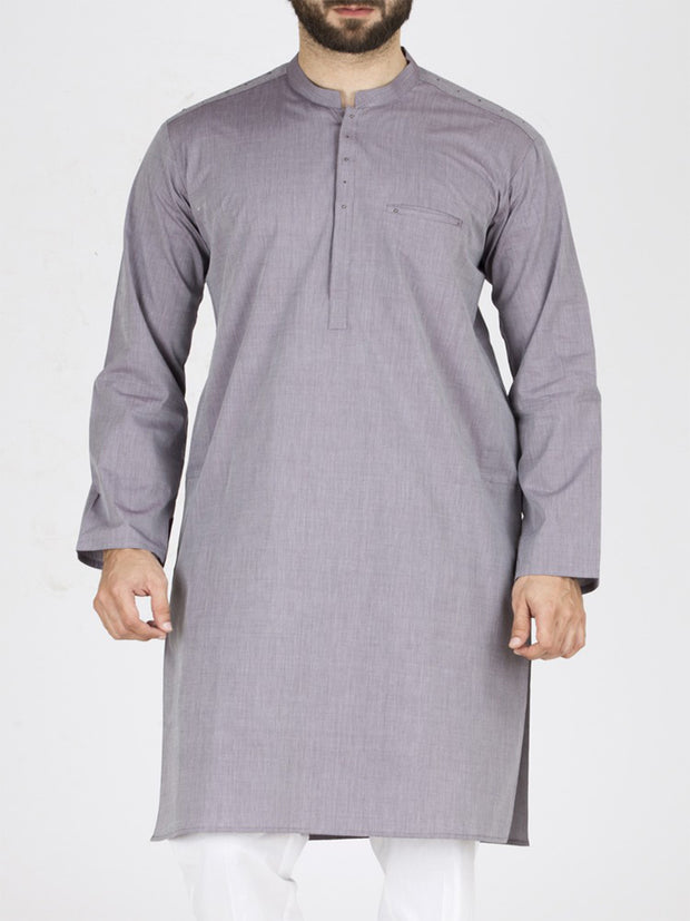 Light Purple Blended Kurta - AL-K-793