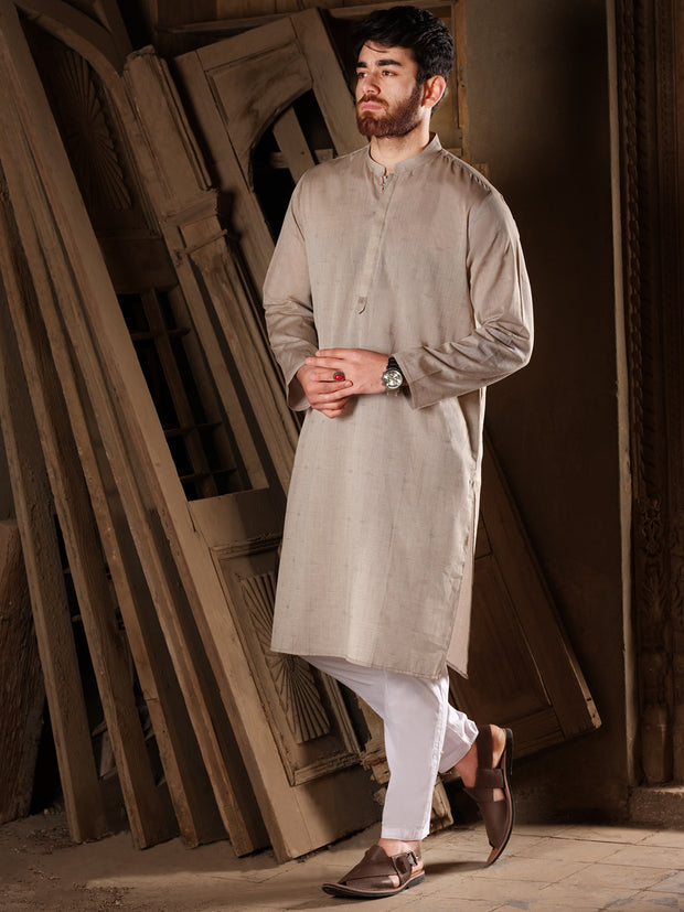 Dark Tea Kurta - AL-K-813