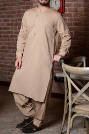 Light Brown Kameez Shalwar - AL-KS-2305