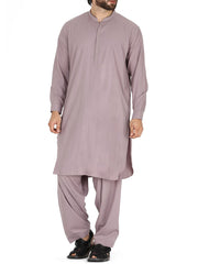 Light Purple Blended Kameez Shalwar - AL-KS-2391
