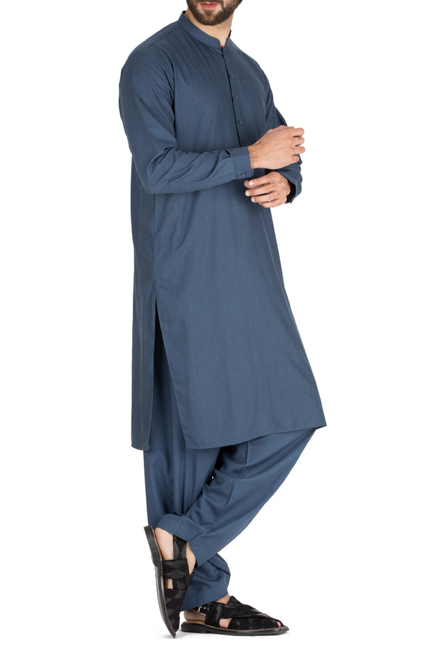 Blue Blended Kameez Shalwar - AL-KS-2411