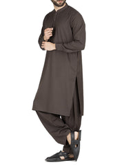 Green Poly Viscose Kameez Shalwar - AL-KS-2432