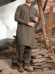 Green Blended Kameez Shalwar - AL-KS-2439