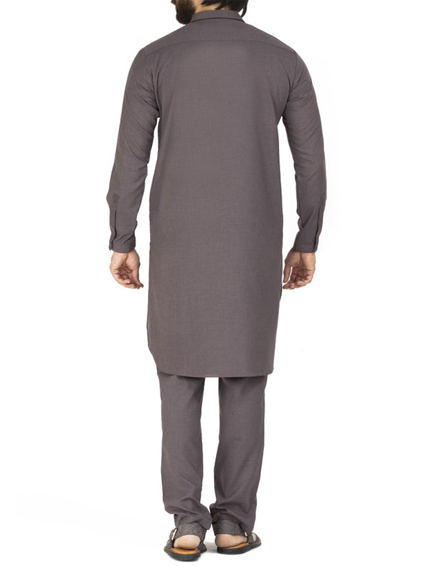 Grey Blended Kameez Shalwar - AL-KS-2442