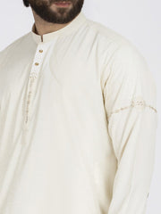 Cream Blended Kameez Shalwar - AL-KS-2468